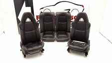 2004-2008 Mazda RX8 Black Leather Front (Heated, Electric) & Rear Seats