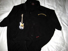 DRAGONFLY BLACK EMBROIDERED BLUES CONSPIRACY GUITAR MUSICIAN SHIRT-MINT-L