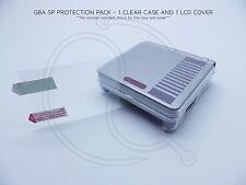 Nintendo SP GBA Acrílico Transparente Funda Protectora Cubierta LCD Juego Boy Advance AGS001