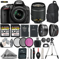 Nikon D5300 Digital SLR Camera +3 Lens 18-55mm VR + 64GB -Great Saving Full Kit