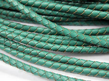 35 Colors-5mm Round Black Leather Bolo Cord, 5mm Woven Braided Leather Bracelet