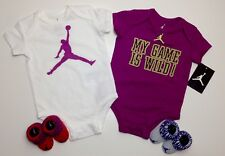 AIR JORDAN Infant GIRLS 4-pc Gift set Bodysuits & Booties Multi-color 3-6 Months
