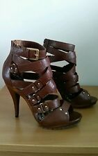 brand new brown strappy sandals by next size 8 =eu 42