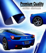 1520mm x 600mm Satin Chrome Blue Vinyl Film - Air Drain Matt Car Wrap Sticker