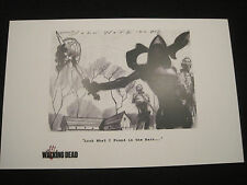 Walking Dead Michonne Lithograph! Look What I Found! B&W!  11x17 inches! LOOK!