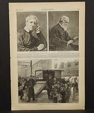 Harper's Weekly Single Page B1#46 May 1879 Robert Browning and Cardinal Newman