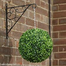2x EXTRA LARGE 33CM  ARTIFICIAL LIGHT GREEN BUXUS BALLS TOPIARY HANGING BALLS