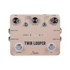 TWIN LOOPER Guitar Effect Pedal Mono Stereo Input/Output Sound Recording V5K9