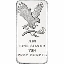 Trademark Bald Eagle 10oz .999 Fine Silver Bar by SilverTowne