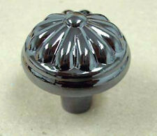 "PN0539-BLN 1 1/4"" Black Nickel Flower Face Cabinet Drawer Knob Pull"