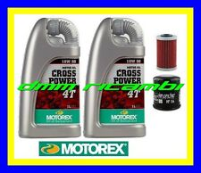 Kit Tagliando KTM 640 DUKE II 99 05 Olio MOTOREX Cross Power 10W/50 1999 2005