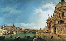 """CANALETTO : ENTRANCE TO THE GRAND CANAL , LOOKING EAST 24"""" CANVAS FINE ART PRINT"""