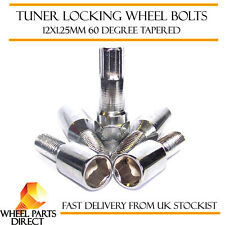 12x1.25mm Locking Alloy Wheel Lock Bolts Tuner Sparco Slimline Security Nuts