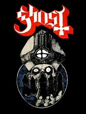GHOST cd lgo Skeleton Priest WARRIOR Official Black SHIRT Size XXL 2X new
