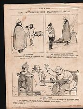 WWI Caricature Pickelhaube War/ Austria Hungary Transylvania 1915 ILLUSTRATION