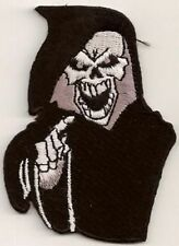 GRIM REAPER SKULL Embroidered Motorcycle MC Club NEW Biker Vest Patch PAT-0749