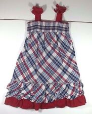 The Childrens Place Dress 4T Toddler Girl Sleeveless Red White Blue Plaid Summer