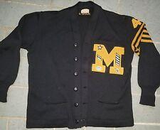 """Vintage lot 1940s Wool Varsity Jacket sweater Letterman Patch """"M"""" Dehen"""