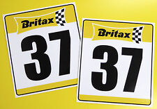 VINTAGE style Classic Car 'BRITAX' RACE NUMBERS ideal for MINI COOPER
