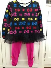 Harajuku Mini NWT 5 Girls Bows Tulle Set Long Sleeved Top Leggings 5T for Target