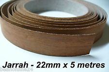 Iron-On Timber Veneer Edging - JARRAH - 22mm x 5 metres - Pre Glued