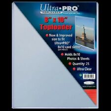 15 8x10 ULTRA PRO RIGID TOPLOADERS PHOTO HOLDER SLEEVES 8 x 10