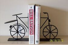 Black Vintage Chic Bicycle Bookends Bike Book Ends