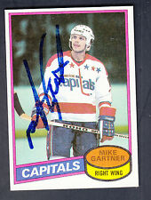 Mike Gartner Autographed 1980-81 Topps Rookie Card #195 Capitals Unscratched JSA