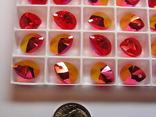 144 PIECES SWAROVSKI PENDANTS/BEADS #6128 12MM - LIGHT SIAM TRANSMISSION