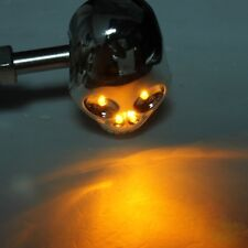 2x,Motorcycle,skull,Amber,LED,indicator,streetfighter,custom,chop,trike,project,
