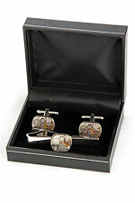 NEW VINTAGE WATCH MOVEMENT STEAMPUNK CUFFLINKS AND TIE CLIP BOXED FOR MENS GIFT