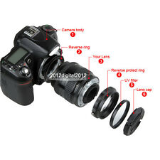 For Canon Macro Lens Reverse Protection EOS +58mm UV Filter+Cap+Adapter Ring