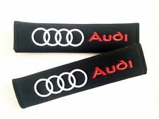 Racing Style Seat Belt Cover Pads AUDI  1 Pair (2pc) Uk Seller