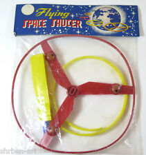 Vintage FLYING SPACE SAUCER Whistling  UFO Spin Top Toy 1960's