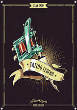 TATTOO LEGEND, BODY ART, RETRO,ENAMEL,VINTAGE STYLE METAL SIGN,682