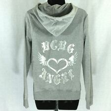 BCBG Max Azria Embellished Angel Hoodie Gray Silver New with Tag Retail $160