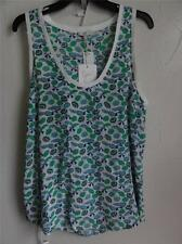 JOIE SLEEVELESS SILK RAIN TANK TOP, Jungle green, Size L, MSRP $138