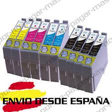 10 CARTUCHOS DE TINTA COMPATIBLE NON OEM EPSON STYLUS SX410 SX415 T0711/2/3/4