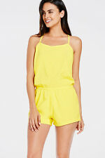Fabletics Yellow Neema Romper Size S RRP £72 Box4617 E