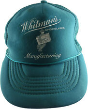 Whitman's Chocolates Manufacturing Mesh Trucker Snapback Adjustable Hat Green