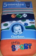 Gerber 5pk Short Sleeve Boy's Onesies, Baby Shower, Newborn