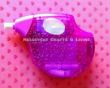 SMIGGLE Glitter Barrel Electric Erasers Rubbers Automatic Eraser - Purple