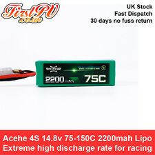 【UK】Acehe 4S 14.8v 75-150C 2200mah Lipo Battery- Ultra High Discharge Rate