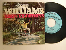 Pat Williams dj 45 w/ps DON'T LEAVE ME / A WHITER SHADE OF PALE ~ Verve VG+ jazz