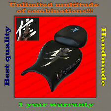 Custom Design Seat Cover Suzuki Hayabusa 08+ black+CHROME (MIRROR) 001