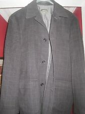 ERMENEGILDO ZEGNA Cashmere Car coat jacket XL 54 44 Black Check