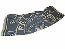 RRL Ralph Lauren Double RL Navy Blue Shipyard Eagle Globe Large Bandana Scarf