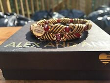 ALEX and ANI VINTAGE 66 Red JASPER FORESTS BLESSING Beaded GOLD Wrap BRACELET