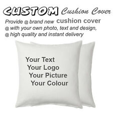 Custom Personalised Cushion Cover Printing 50cm*50cm, full COLOUR print 100% Cot