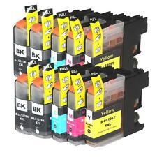 Set 10 Pk LC107 BK LC105 XXL Ink Cartridge For Brother  MFC-J4710DW with CHIP